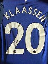 DAVY KLAASSEN HAND SIGNED EVERTON SHIRT 2017/18 PROOF 1.