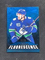 2019-20 UPPER DECK SERIES TWO QUINN HUGHES ROOKIE FLUORESCENCE BLUE #ed 50/50