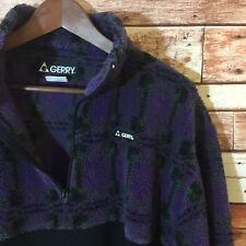 Vintage VTG Gerry Deep Pile Purple Half Zip Fleece Pullover Jacket / Men's L USA