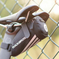 ROCKBROS Road Bike Mini Small Bicycle Bag Reflective Seat Tail Saddle Bag Black