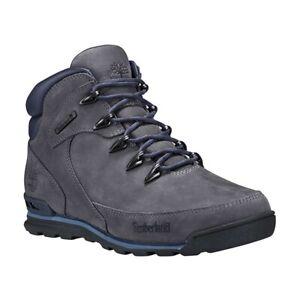 Timberland Euro Rock Mid Hiker Dark Grey Nubuck Men's Boots Shoes UK 10.5 EU 45
