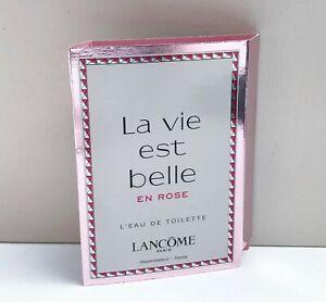 Lancome La vie est belle En Rose L'Eau De Toilette mini Spray Perfume, 1.2ml NEW