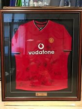 2001 Manchester United Vodafone Signed Jersey - absolutely Authentic.