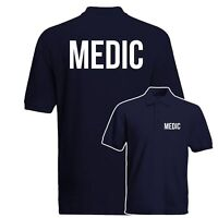 Medic Polo Shirt, Medical Health Care Work Wear Polo Top