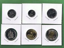 2016 CANADA 6 PIECE COIN SET UNCIRCULATED FROM MINT ROLLS CANADIAN 5¢ - $2