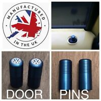 VW T5 T6 Blue Door Lock Pull Pins Precision UK Machined And Laser Engraved