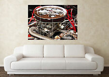 großer v8 hotrod motorraum nitro drag sportwagen poster wand kunst bild drucken