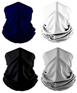 4-Pack Solid Balaclava Scarf Neck Fishing Hunting Shield Sun Gaiter Mask Bundle