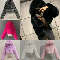 And Fur Coats New Faux High Top Coat Quality Cropped Furry Womens Fluffy jackets