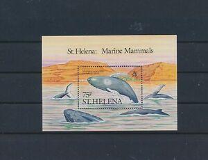 LO41353 St Helena whales fish sealife good sheet MNH