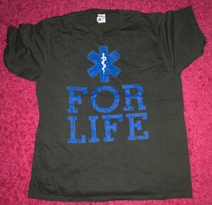 EMT for life Tshirt, Size 2XL, Olive Green