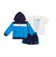 NWT Nike Baby Set, Baby Boys 3-Piece Just Do It Tee, Jacket and Shorts 12M