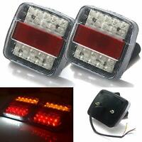 2X 12V LED Tail lights Stop Brake lamps Lights WATERPROOF Boat Trailer AU Stock
