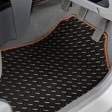 TAILORED RUBBER CAR MATS & ORANGE STRIPE TRIM FOR RENAULT CLIO (2013 ON) [3116]