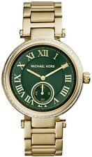 NEW MICHAEL KORS SKYLAY GOLD TONE STAINLESS STEEL GREEN DIAL LADIES WATCH MK6065