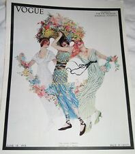 Vogue Poster//Woman With Rings//Vintage Vogue Magazine Cover Reproductionn17x22in