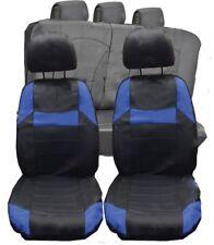 VW Golf MK4 MK5 MK6 Universal Black & Blue  Pvc Leather Look Car Seat Covers Set