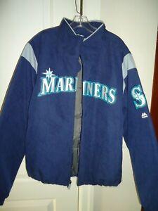 Majestic Seattle Mariners Unisex Jacket Therma Base Navy Baseball Size: L/G/GNew