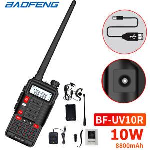 BAOFENG UV-10R Walkie Talkie Radio 10W Dual Band Two Way Long Range CB Ham Radio