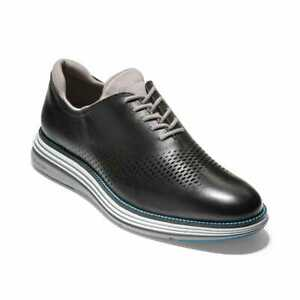 Men's Cole Haan Men's riginalGrand Ultra Laser Oxford Shoes Black/cool Gray-iron