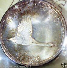 TONED Canada 1967 SILVER DOLLAR