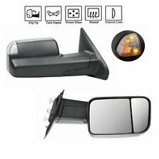 Towing Mirrors Power Heated Led Signal Lights For 02-08 Dodge Ram 1500 2500 3500