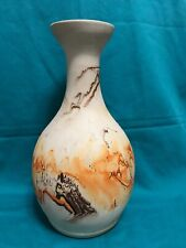 Nemadji Pottery Vase 12 inches Tall With Earth Tones