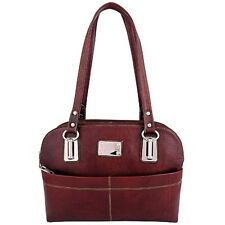 ZINT Womens Handbag Genuine Leather Brown Ladies Purse Shoulder Bag Gift for Her