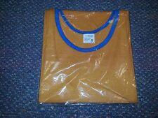 Vintage Jc Penny tank top tee shirt orange & blue factory sealed small mens