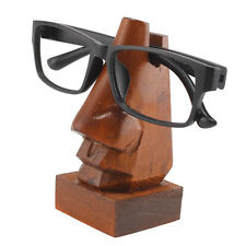 Wooden Nose-Shaped Spectacles Glasses Holder Stand Gift Sheesham Wood NEW
