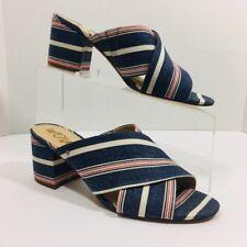 822e9220ce34 Sam Edelman Women Stanley Blue Denim Red   Cream Print Sandals Size 9.5