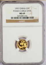 1997  China 1/20 oz. 5 Yuan   Large Date    Gold Panda NGC MS69
