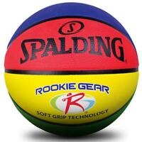 Coloured Rookie Soft Grip Basketball Size 5 Outdoor Ball Spalding