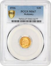 1916 McKinley G$1 PCGS MS67 - Classic Commemorative - Gold Coin