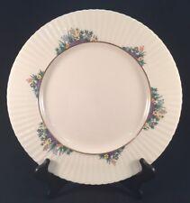 "Lenox Rutledge 10-7/8"" Dinner Plate Multi-Color Enameled Flowers with Gold Ring"