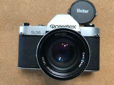 Rolleiflex SL 35 35mm SLR Film Camera w Ziess Planar 50mm 1.8 Lens Germany