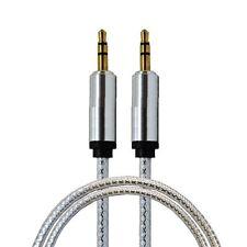 1 x 2M cristal 3.5mm plaqué or câble aux pour ipod iphone voiture pc MP3