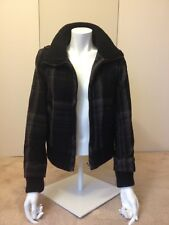 zara new without tag checked bomber jacket size S, dark grey/ hint of purple