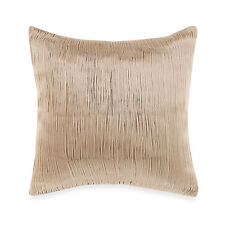 KENNETH COLE REACTION HOME Square Toss Pillow, Pleated, RADIANT, Gold, NEW