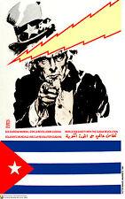 Political cuban POSTER.US UNCLE SAM and Revolution.52.Revolution History art