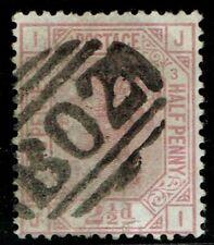 Egypt 1876 SG141Z49 2 1/2d Rosy-Mauve Pl 3 JI 'B02' SUEZ Good Used