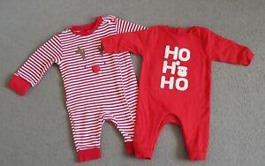 Baby boy/girl/unisex Next & Tu Christmas sleepsuits bundle up to 1 month