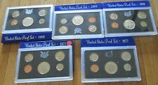 1968 1969 1970 1971 1972 U.S. Mint Proof Set  5 Proof Set San Francisco Mint