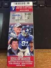 2016 NEW YORK GIANTS VS CINCINNATI BENGALS NFL TICKET STUB 11/14 TOM CAUGHLIN