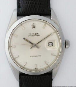Rolex Oysterdate Precision 6694 Vintage Stainless Steel Mens Watch