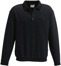 HAKRO Sweatshirt mit Kragen, Knopfleiste und Brusttasche, 3er Pack,