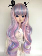 "New 1/4 Girl BJD SD Doll Wig Dollfie 7"" DZ DOD LUTS Bjd Doll Wig Long Curly Hair"