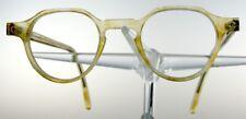 SCHNUCHEL 134 Brille Brillengestell Braun Gelb Kunststoff Eyeglasses NEU