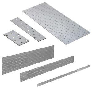 Lochplatten 40 - 1200 mm Flachverbinder Holzverbinder Nagelplatte Lochblech CE