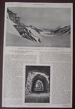 Document Institut scientifique col de la Jungfrau,glacier Aletsch    photo 1931